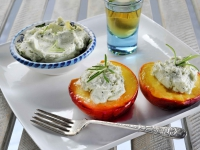 Baked Peaches with Mascarpone and blue cheese