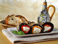 Eggplant and Mozzerrella Rolls