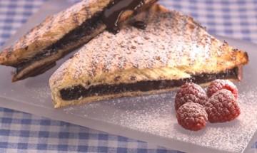 Toasted chocolate brioche sandwich