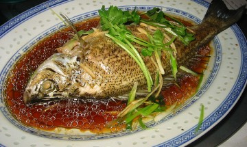 Steamed whole fish Chinese-styl