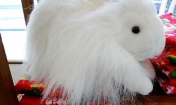 White rabbit puppet at White Rabbit Gallery