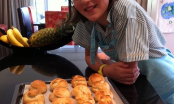 Maddison Fogarty with her beautiful scones