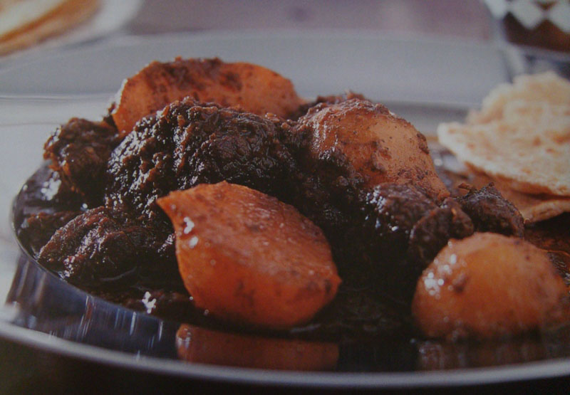 Moghul lamb with turnips