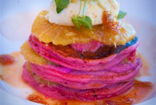 Beetroot Pancakes from The Byron Beach Cafe