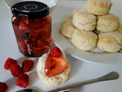 Scones with 'Sugardaddy's' rose petal jelly
