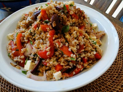 Farro and Roasted Capsicum Salad