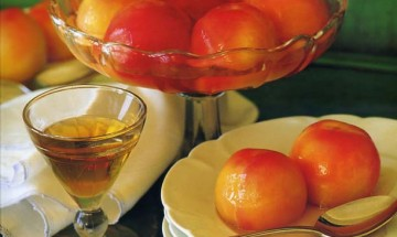 "Poached Peaches (from my book ""Seasonal Entertaining"""