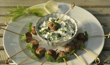 Kofta with Raita from The Cooks Garden