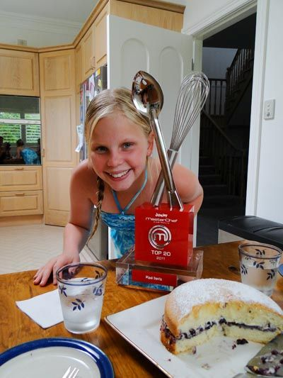 Madi, one of my Mini Chef students, with her Junior Master Chef award