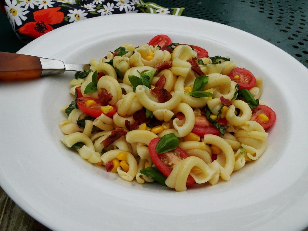 Orecchiette with Tomato, Corn and Bacon | Cooking with Sheridan