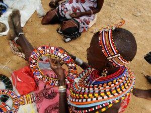 Umoja Womens Village making jewellery