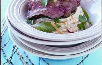 "Seared Beef and Noodle Salad from ""Marie Claire Summer""