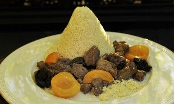 Moroccan Lamb Tagine with Prunes and Apricots