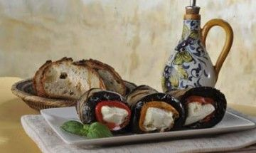 Eggplant and Buffalo Mozzarella Rolls