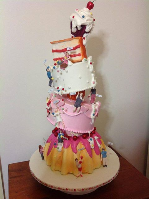 Merryn Holder's Fabulous Cake for the launch of The Great Australian Bake-Off, Channel 9