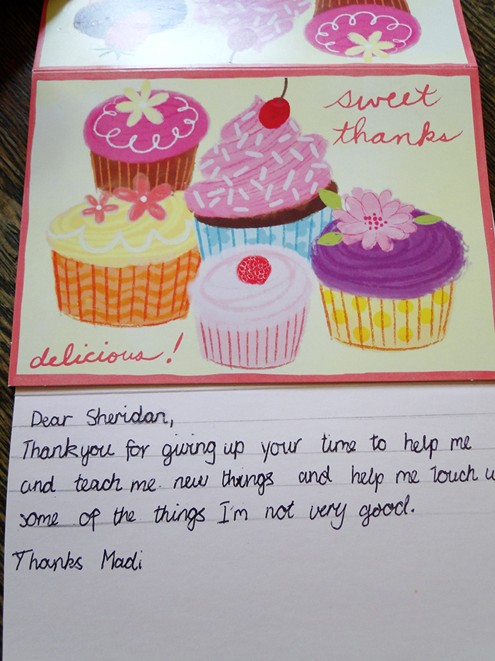 Madi Thank you card Oct 2011