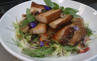 Bern's Roast Pork Belly for Christmas with Green Mango Coleslaw