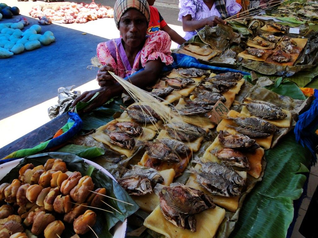 Laplap, Vanuatu's national dish, at the Port Vila markets