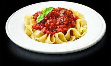Pork Sausage with Pappardelle