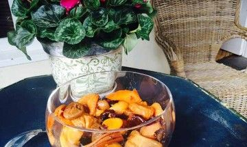 Compote of Dried Fruits with Orange Blossom Water