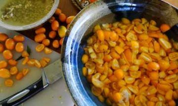 Making cumquat marmalade