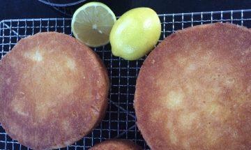 Coconut Lemon Syrup Cake