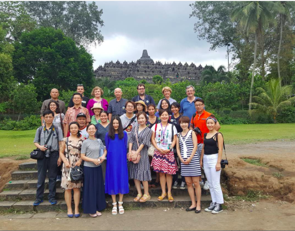 FEALAC 2016: some of the guests invited on this year's tour at Borobudur, Central Java
