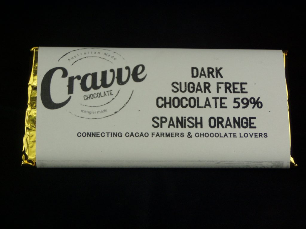 Cravve's sugar-free chocolate bar