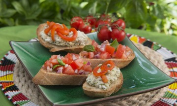 Christmas Bruschetta, photography by Andrew Payne, Photographix