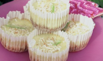 Christmas Coconut Lime Cakes