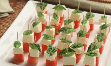 Christmas Watermelon Fetta Mint Tapas