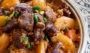 Buhara Pilavi (Pilaf with lamb, quince & nuts)