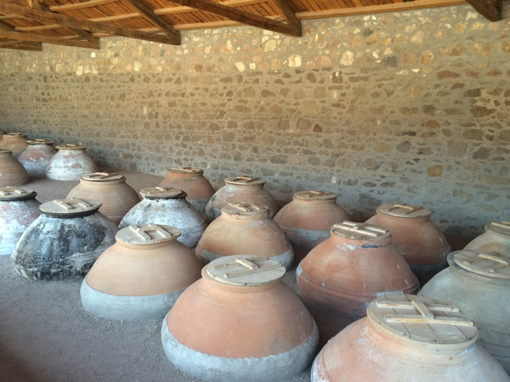 Amphorae at the Museum of Industrial Olive Oil Production, Agia Paraskevi