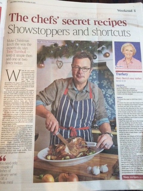 Secret chefs' recipes for Christmas: The Times