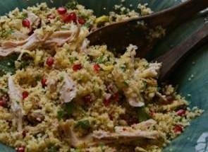 Couscous, pomegranate and preserved lemon salad