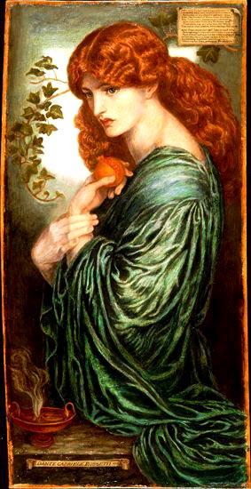 Pre-Raphaelite painting of Persephone