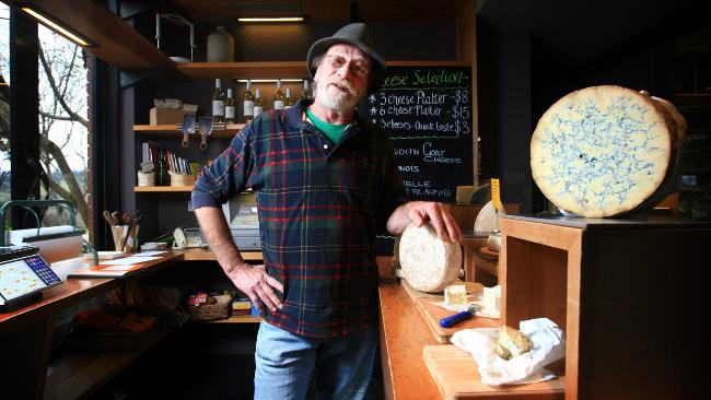 Cheesemaker Richard Thomas (photo courtesy of 'The Australian')