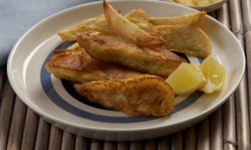 Flash-fried fish and chips