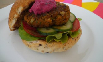 Burgers with Beetroot Relish