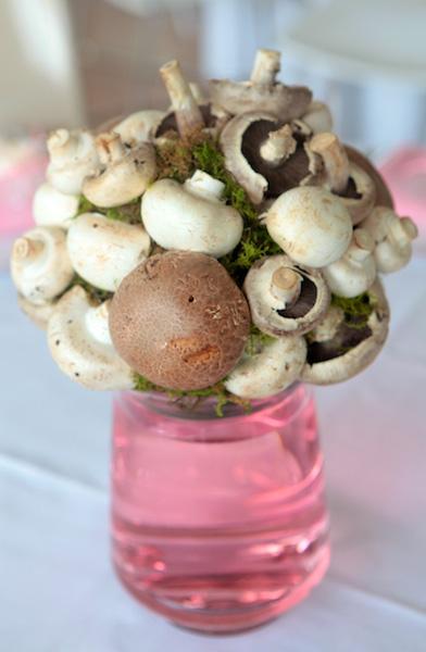 Mushrooms go pink