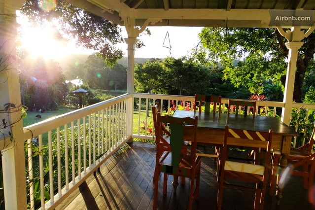 View from the wraparound verandah at Bend of the River