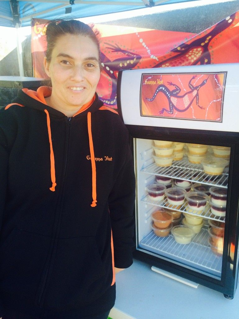 Chef Jo Walles with some of her Goanna Hut products