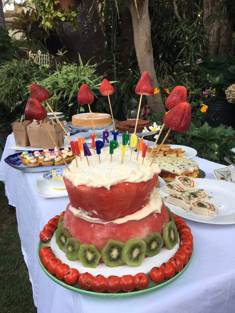 Noa Grace's Watermelon Birthday Cake