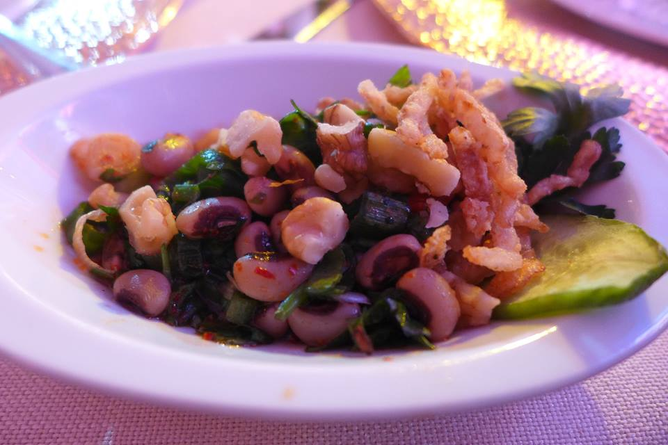 Black-eyed pea salad )loglaz piyazi): photo courtesy of Yakir Levy, taken at the Ciragan Palace dinner