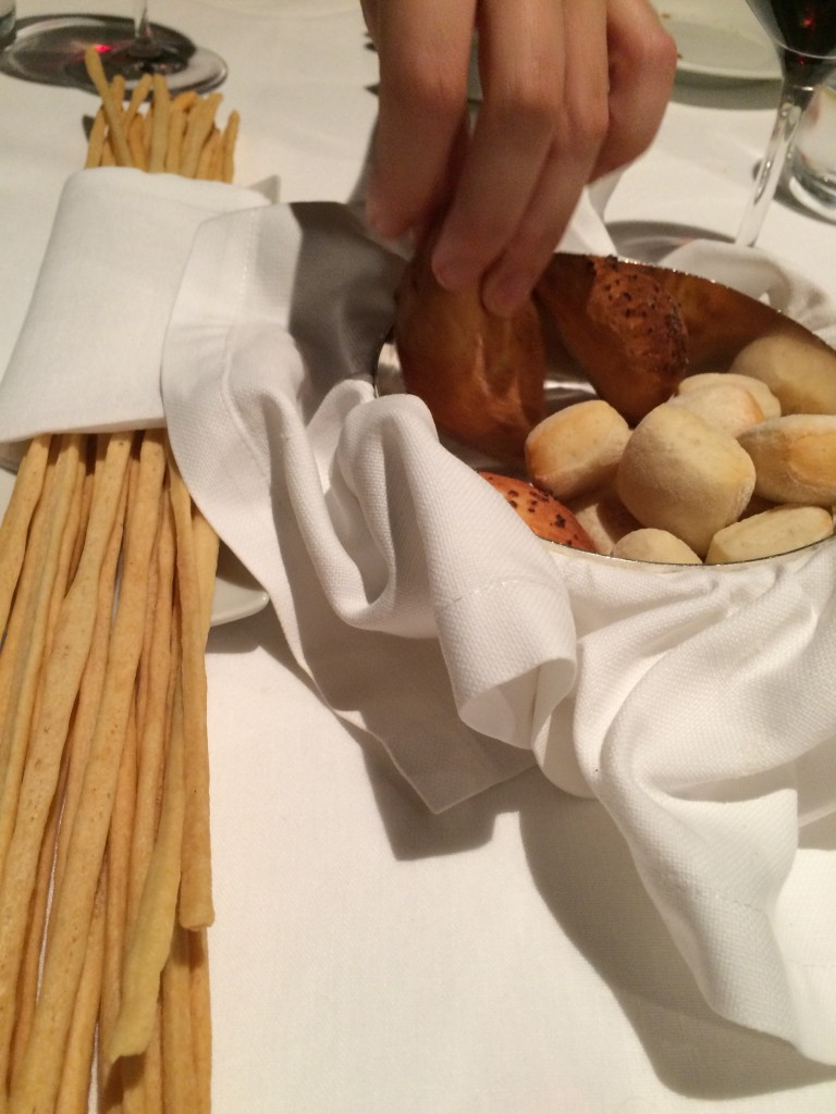 Grissini (breadsticks) are over-rated in Italy but these ones were very good