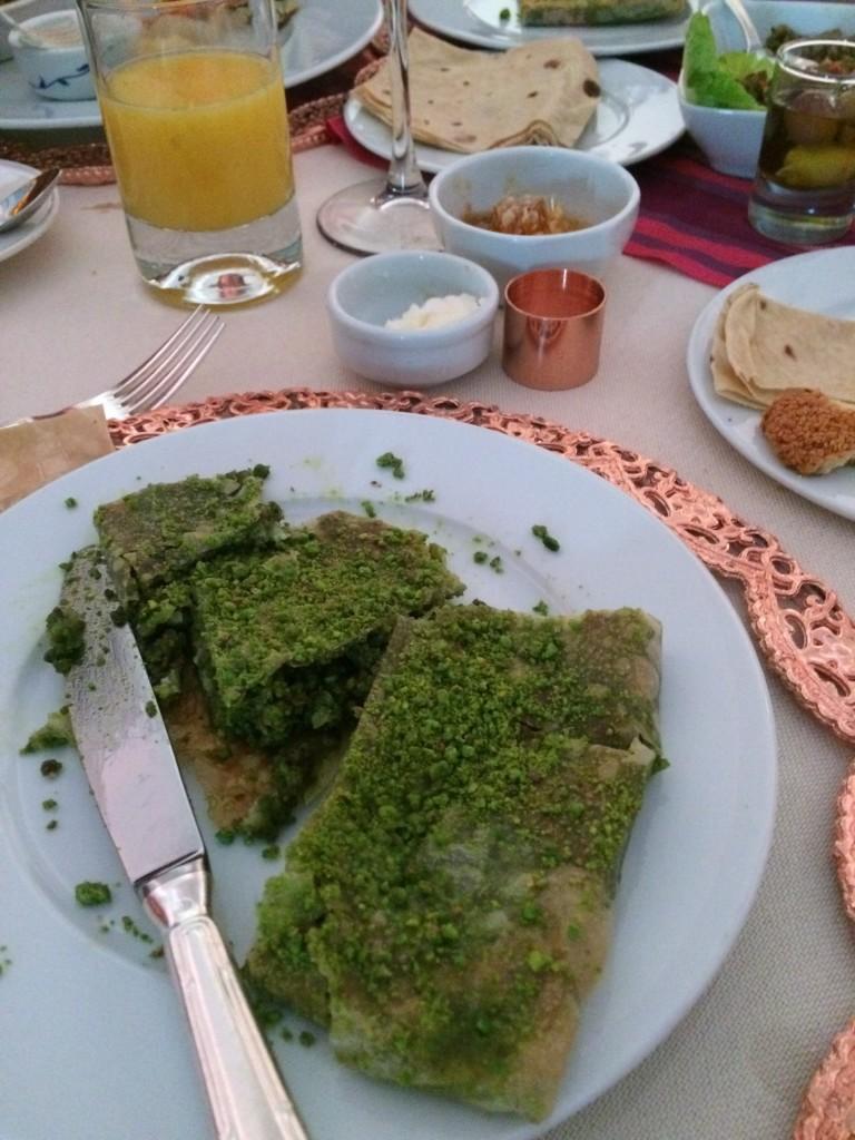 A plate of katmer at the breakfast table, Ciragan Palace