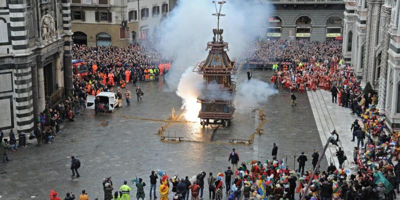 """""""Scoppio del Carro"""", Easter Sunday, Firenze"""